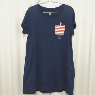 グラニフ(Design Tshirts Store graniph)のgraniph*ワンピース ルームウェア Tシャツ ロング(ルームウェア)