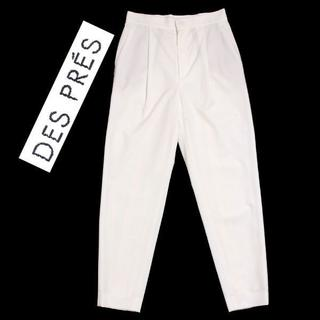 デプレ(DES PRES)のDES PRES ポリエステルレーヨン タックテーパードパンツ (その他)