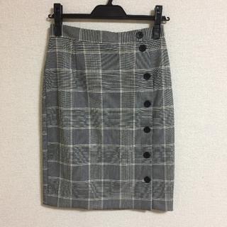 エイチアンドエム(H&M)のH&M  チェック  タイトスカート(ひざ丈スカート)