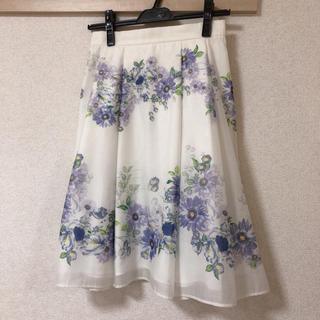 レッセパッセ(LAISSE PASSE)の専用パネルフラワースカート(ひざ丈スカート)