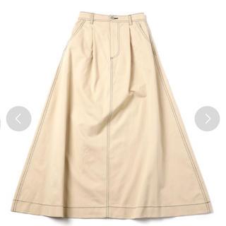 スピンズ(SPINNS)の配色ステッチツイルロングスカート♡新品未使用(ロングスカート)