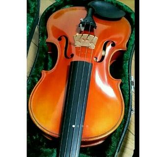 高級 バイオリン 鈴木 No.330 4/4 証明ラベル有、弓ケース付 定価8万(ヴァイオリン)