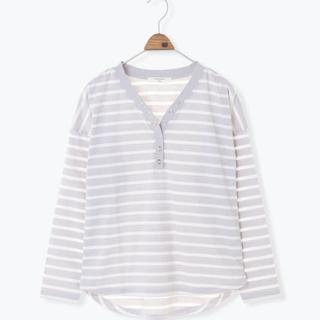 サマンサモスモス(SM2)のボーダーtシャツ (Tシャツ(長袖/七分))
