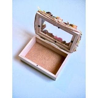 **木の実Box*~brown&pink**(ドライフラワー)