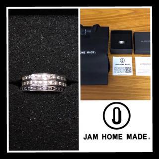ジャムホームメイドアンドレディメイド(JAM HOME MADE & ready made)のショッパー箱完備! ジャムホームメイド フラットダイヤモンドリング 3連 9号(リング(指輪))