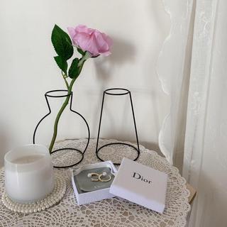 ザラホーム(ZARA HOME)の2つセット フラワーベース ワイヤー花瓶 アイアン花瓶 ワイヤーインテリア 韓国(花瓶)