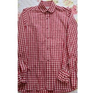ジンジャーエール(GINGER ALE)の日本製ギンガムチェックシャツ赤レッドジンジャーエール(シャツ/ブラウス(長袖/七分))