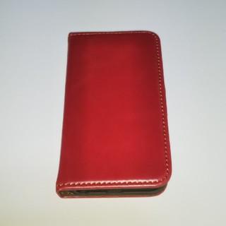アイポッドタッチ(iPod touch)のipod touch 手帳型カバー レッド(ポータブルプレーヤー)