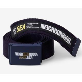 ネイバーフッド(NEIGHBORHOOD)のwind and sea ウィンダンシー ネイバーフッド 黒 ブラック  (ベルト)