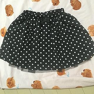 ジルスチュアートニューヨーク(JILLSTUART NEWYORK)のドーリーミュウシアードットスカート130美品(スカート)