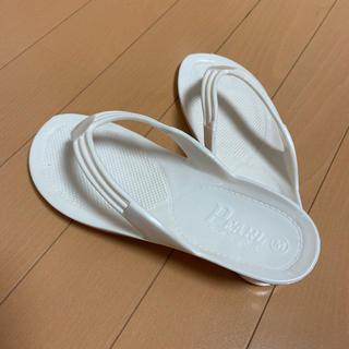 パール(pearl)のギョサン PEARL パールホワイト Mサイズ 23.0(ビーチサンダル)