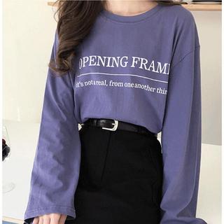 ゴゴシング(GOGOSING)の韓国 ブルー プリントT ホットピング メロンショップ dholic (Tシャツ(長袖/七分))