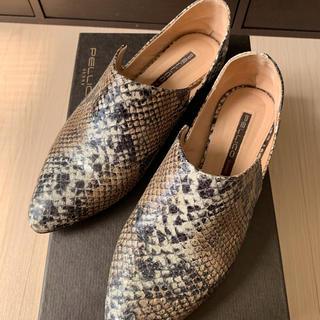 ペリーコ(PELLICO)のペリーコ パイソン フラットシューズ(ローファー/革靴)