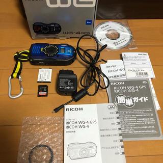 リコー(RICOH)のWG-4GPSブルー(コンパクトデジタルカメラ)
