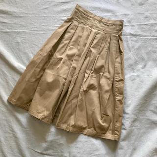 カトー(KATO`)のグランドママドーター  ロング スカート  チノプリーツ(ロングスカート)