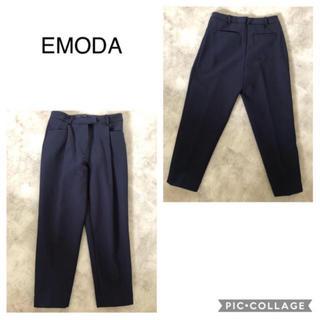 EMODA - EMODA センタープレスパンツ ネイビー