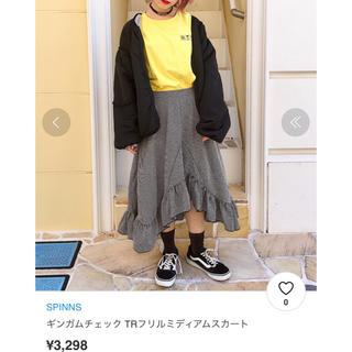 スピンズ(SPINNS)のスピンズ ギンガムチェックスカート(ひざ丈スカート)