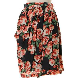 イランイラン(YLANG YLANG)のイランイラン 花柄スカート♪(ひざ丈スカート)