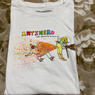 アンチヒーロー(ANTIHERO)のANTI HERO アンタイヒーロー tシャツ L 白 オールドスクール(Tシャツ/カットソー(半袖/袖なし))