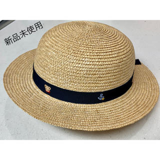 ファミリア(familiar)のfamiliar 麦わら帽子 ★未使用★(麦わら帽子/ストローハット)