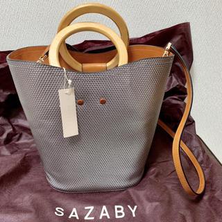 サザビー(SAZABY)のSAZABY  皮革  シルバー 軽量バッグ(トートバッグ)