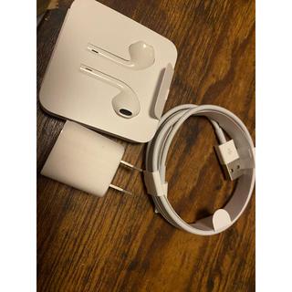 アイフォーン(iPhone)のiPhone 充電器 イヤホン(変圧器/アダプター)