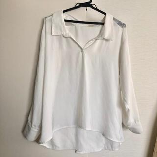 リゼクシー(RESEXXY)のresexxy  透け感 シースルー ゆるシャツ ブラウス シアーシャツ(シャツ/ブラウス(長袖/七分))