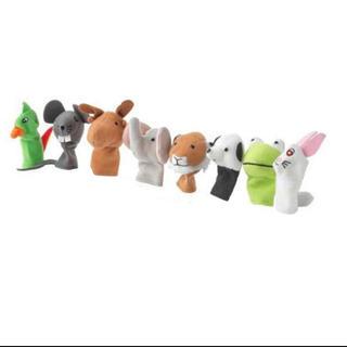 イケア(IKEA)のイケア IKEA 指人形 ナチュラル 動物 玩具 ぬいぐるみ 人形 (ぬいぐるみ/人形)