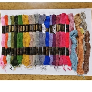 オリンパス(OLYMPUS)の刺繍糸 OLYMPUS★27本27色★set  オリンパス 25番 刺しゅう糸(生地/糸)