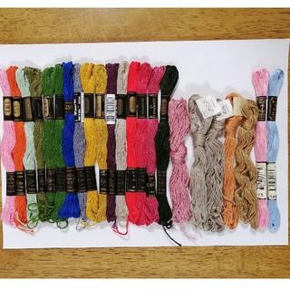 オリンパス(OLYMPUS)の刺繍糸 OLYMPUS★23本23色★set  オリンパス他 25番 刺しゅう糸(生地/糸)