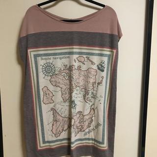 アンレリッシュ(UNRELISH)のUNRELISH 地図 Tシャツ(Tシャツ(半袖/袖なし))