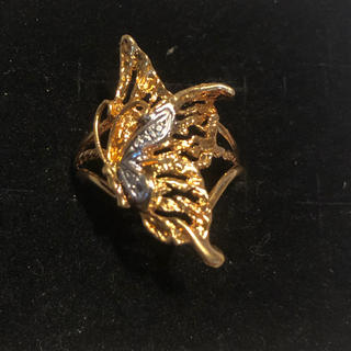 REN様専用 k18 イエローゴールド、ホワイトゴールド バタフライリング(リング(指輪))