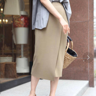 バンヤードストーム(BARNYARDSTORM)のBARNYARDSTORM /ラップニットスカート☆カーキ☆ミラノリブ(ロングスカート)