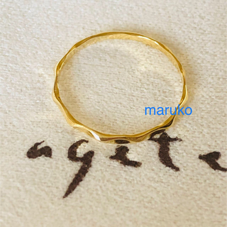 アガット(agete)のアガット k18 ウェーブ リング(リング(指輪))