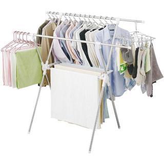 アイリスオーヤマ 洗濯物干し 布団干し 室内物干し 約5人用 簡単組み立て室内物(電話台/ファックス台)