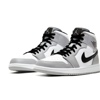 ナイキ(NIKE)の23.5cm JORDAN 1 MID LIGHT SMOKE GREY (スニーカー)