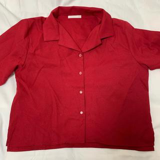 スピンズ(SPINNS)の赤 シャツ オープンカラーシャツ(ポロシャツ)