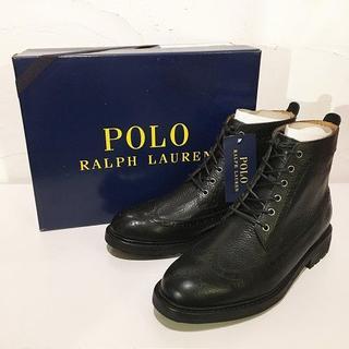 ポロラルフローレン(POLO RALPH LAUREN)のRALPH LAUREN NICKSONブーツTUMBLEDウイングチップ27㎝(ブーツ)