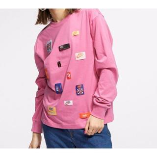 ナイキ(NIKE)のNIKE ナイキ 各種タグ付 ロングスリーブTシャツ ピンク 新品 レディース(Tシャツ(長袖/七分))