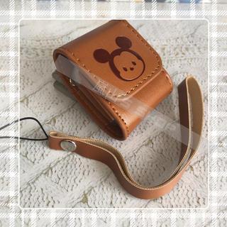 ディズニー(Disney)の本革 ミッキー AirPods  カバー(ヘッドフォン/イヤフォン)