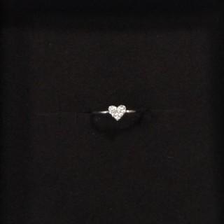アーカー(AHKAH)のアーカー ダイヤモンド ハート ピンキーリング(リング(指輪))