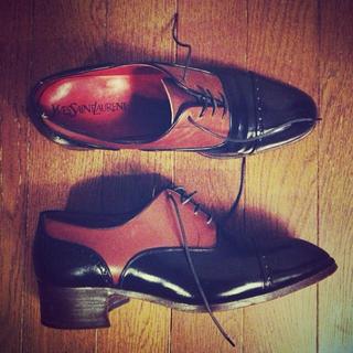 サンローラン(Saint Laurent)のYSL ウイングチップ(ローファー/革靴)
