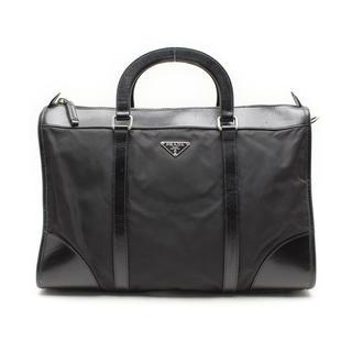 プラダ(PRADA)のPRADAプラダ三角プレートレザーナイロン書類ブリーフケースバッグかばん(ビジネスバッグ)