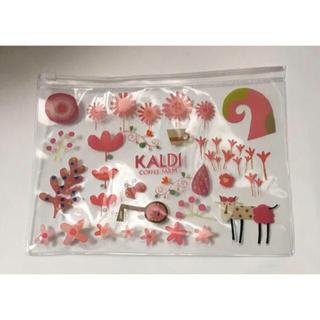 カルディ(KALDI)のカルディ KALDI モモめえクリアポーチ 2020(ポーチ)