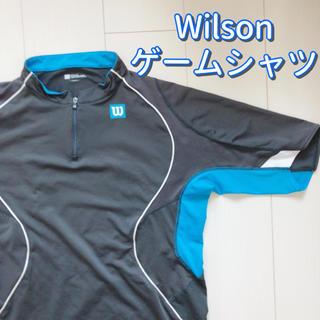 ウィルソン(wilson)のWilson テニス ゲームシャツ(上のみ)M 水色 青 ブルー(ウェア)