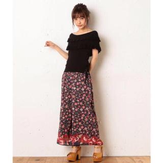 ミーア(MIIA)の新品 MIIA ミーア パターンフラワープリントワイドパンツ 花柄パンツ(カジュアルパンツ)