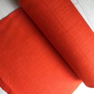 オリンパス(OLYMPUS)のオリムパス オレンジ刺繍生地 幅40cm×1m こぎん刺し、クロスステッチ(生地/糸)