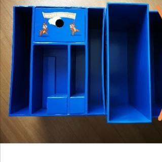 ディズニー(Disney)の【DWE】収納ボックス 青箱 2箱セット(ケース/ボックス)