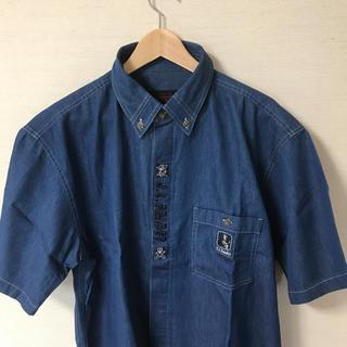 アンジェロガルバス(ANGELO GARBASUS)の【新品】デニムの半袖シャツ(シャツ)