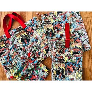 マーベル(MARVEL)の【レイラ様専用】スパイダーマン 上履き入れのみ(バッグ/レッスンバッグ)